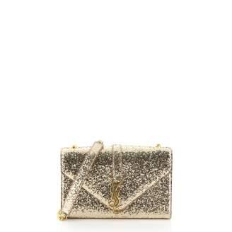 Saint Laurent Satchel monogramme Gold Leather Handbags
