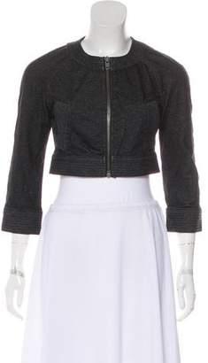 Diane von Furstenberg Long Sleeve Crop Jacket