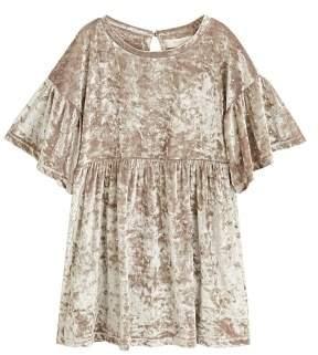MANGO Rhinestones velvet dress