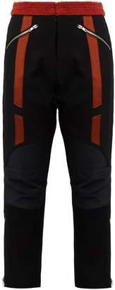 Wales Bonner Georges crochet-waist cropped wool biker trousers