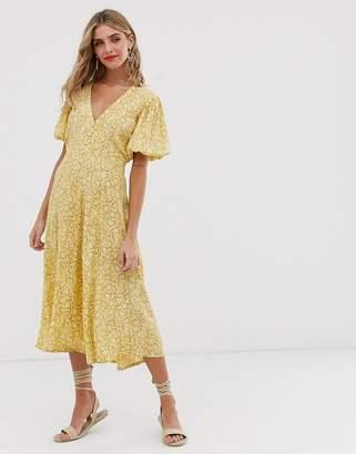 e342ccdf60d1 Faithfull The Brand Faithfull delia snake print midi dress