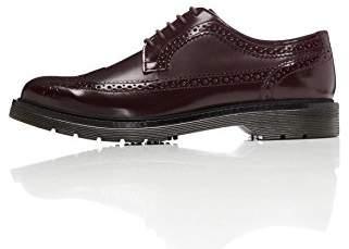 FIND Men's Brogue Shoes Wingtip Details and Gum Rubber Sole