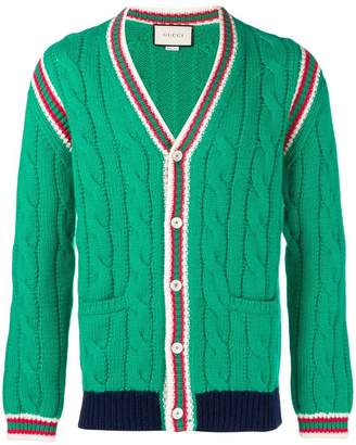 Gucci braided stripes cardigan