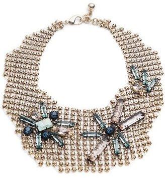 Lulu Frost Cité Chain Link Bib Necklace $495 thestylecure.com