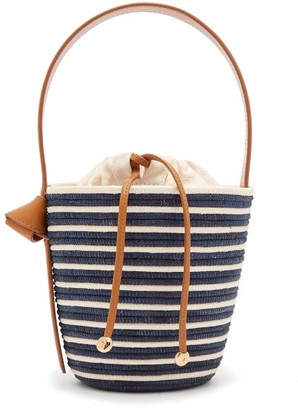 Cesta Collective - Breton Striped Sisal Basket Bag - Womens - Navy White