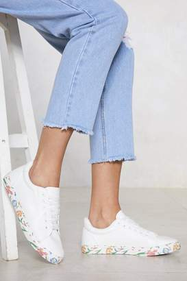 Nasty Gal Stay Grounded Floral Sneaker
