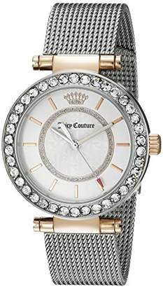 Juicy Couture Women's 1901375 Cali Analog Display Japanese Quartz Silver-Tone Watch $225 thestylecure.com