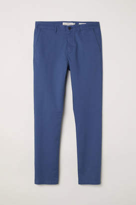 H&M Cotton Chinos Skinny fit - Blue