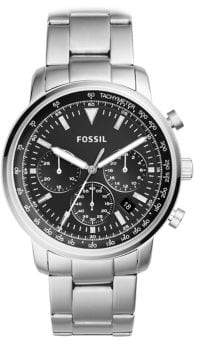 Fossil Chronograph Goodwin Stainless Steel Bracelet Watch