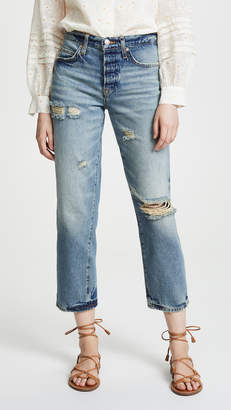 Free People Extreme Washed Boyfriend Jeans