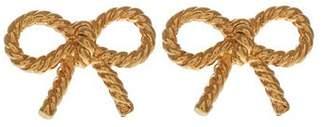 Olivia Burton Gold Tone Vintage Bow Stud Earrings