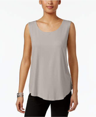 JM Collection Petite Scoop-Neck Tank Top, Created for Macy's