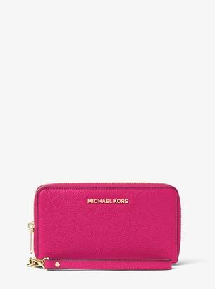 MICHAEL Michael Kors Mercer Large Leather Smartphone Wristlet