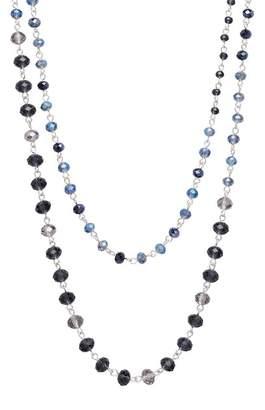 Joe Fresh Montana Two Row Crystal Station Necklace