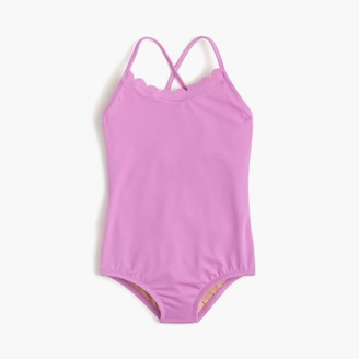 Girls' scalloped one-piece swimsuit $55 thestylecure.com