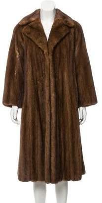Chloé Mink Fur Long Coat