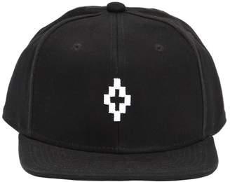 Marcelo Burlon County of Milan Logo Embroidered Canvas Hat