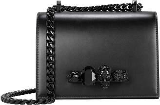 Alexander McQueen Jewelled Leather Satchel