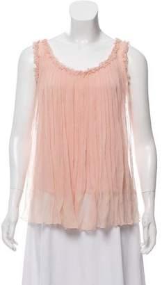Gucci Sleeveless Silk Blouse