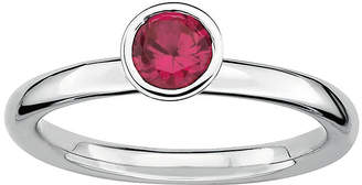 JCPenney FINE JEWELRY Personally Stackable Lab-Created Ruby Sterling Silver Stackable Ring