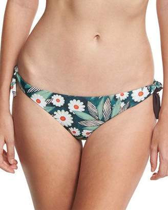 Mara Hoffman Tropical Floral Tie-Side Swim Bottom, Multicolor $125 thestylecure.com