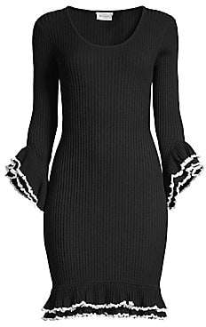 95bbb9557791 Black And White Contrast Dress - ShopStyle