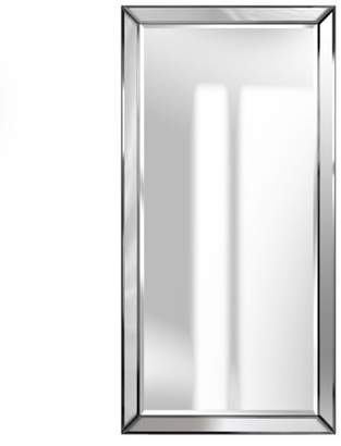 Gallery Solutions 24x48 Beveled Full Length Wall Mirror With Mirror Panel Border
