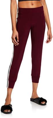 Norma Kamali Mid-Rise Side-Striped Jog Pants