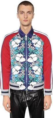 DSQUARED2 Floral Printed Nylon Bomber Jacket
