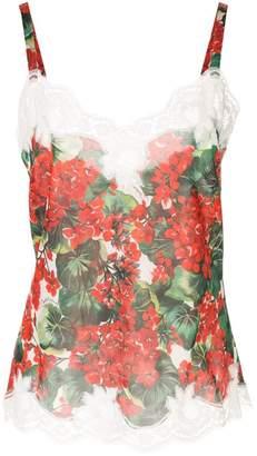 Dolce & Gabbana portofino print lingerie cami