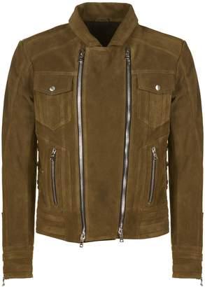 Balmain Lace-up Biker Jacket