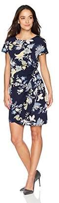 Robbie Bee Women's Petite Short Sleeve Sarong Dress