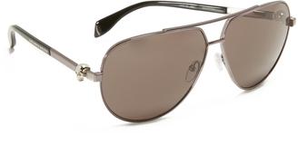 Alexander McQueen Skull Aviator Sunglasses $470 thestylecure.com