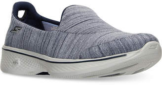 Skechers Women's GOwalk 4 - Satisfy Walking Sneakers from Finish Line $59.99 thestylecure.com