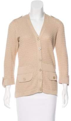 Façonnable Textured Knit Cardigan