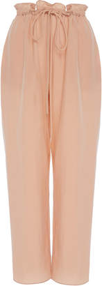 Sally LaPointe Lightweight Cupro Cropped Drawstring Pant