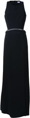 Thierry Mugler leather chain panel detail dress