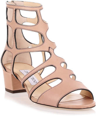 Jimmy Choo Ren 35 beige leather sandal