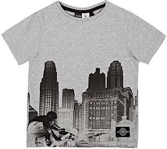Molo Kids City Skyline Cotton Jersey T-Shirt-Grey $50 thestylecure.com
