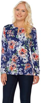 Isaac Mizrahi Live! China Floral Printed Cardigan
