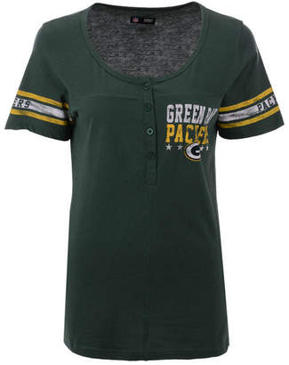 5th & Ocean Women Green Bay Packers Button Down T-Shirt