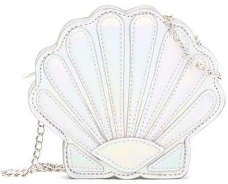 Capelli of New York Hologram Seashell Crossbody Bag (Little Girls & Big Girls)