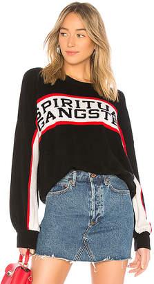 Spiritual Gangster SG Cashmere Blend Varsity Sweater