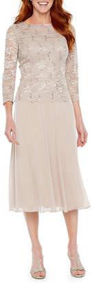 Jackie Jon 3/4 Sleeve Fit & Flare Dress