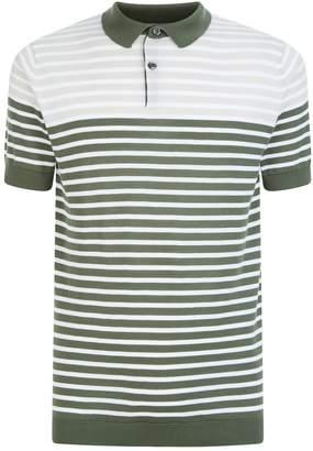 John Smedley Sea Island Cotton Stripe Polo Shirt