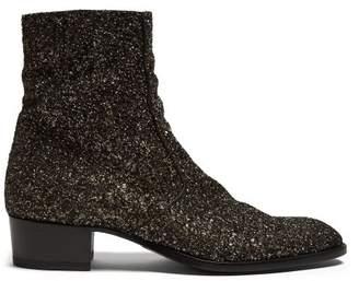 Saint Laurent Wyatt Glitter Chelsea Boots - Mens - Multi