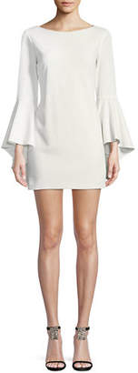 Jay Godfrey JAY X JAYGODFREY Bell-Sleeve Sheath Mini Cocktail Dress