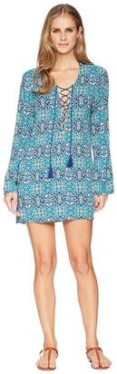 LaBlanca La Blanca Tuvalu Lace-Up Front Tunic Cover-Up Women's Swimwear