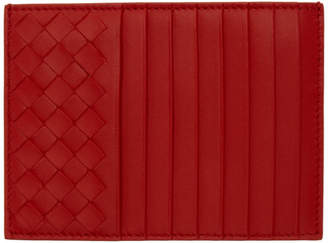 Bottega Veneta Red Intrecciato Multi Card Holder