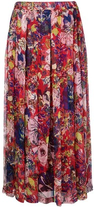 Aspesi floral printed skirt